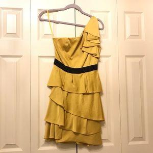 BCBG Max Azria Asymmetrical One-Shoulder Dress